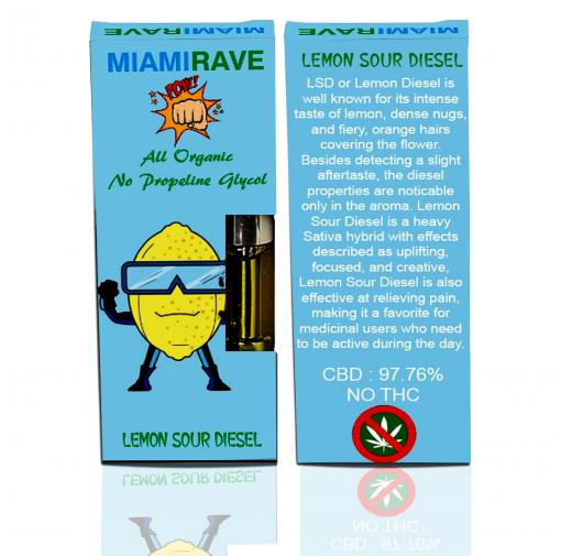 Buy Premium CBD Vaporizer Cartridge Online Lemon Sour Diesel