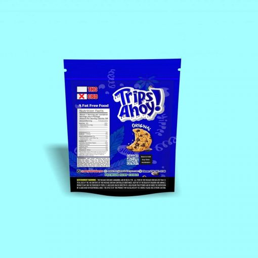 Trips Ahoy Chocolate Chip Cookies : 1,000 MG Delta 8 THC